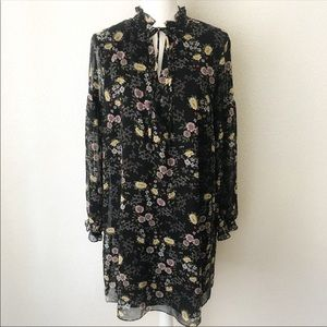 1. State Boho Keyhole Floral Swing Dress Sz Large